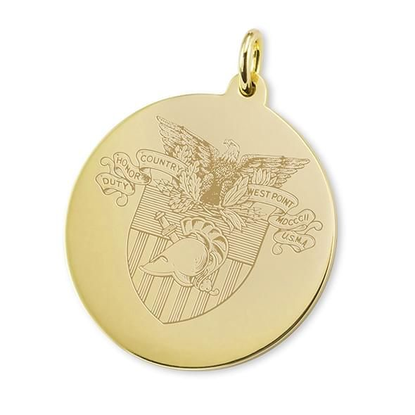 West Point 18K Gold Charm - Image 1