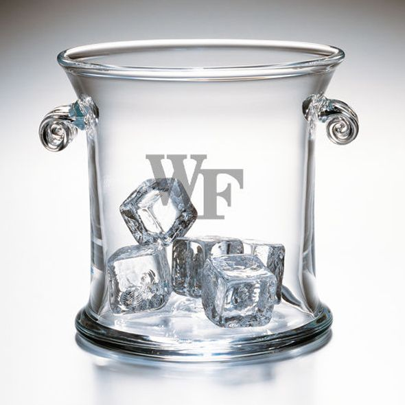 Wake Forest University Glass Ice Bucket by Simon Pearce