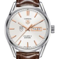 Emory University Men's TAG Heuer Day/Date Carrera with Silver Dial & Strap