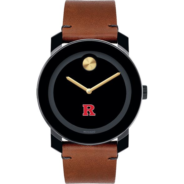 Rutgers University Men's Movado BOLD with Brown Leather Strap - Image 2