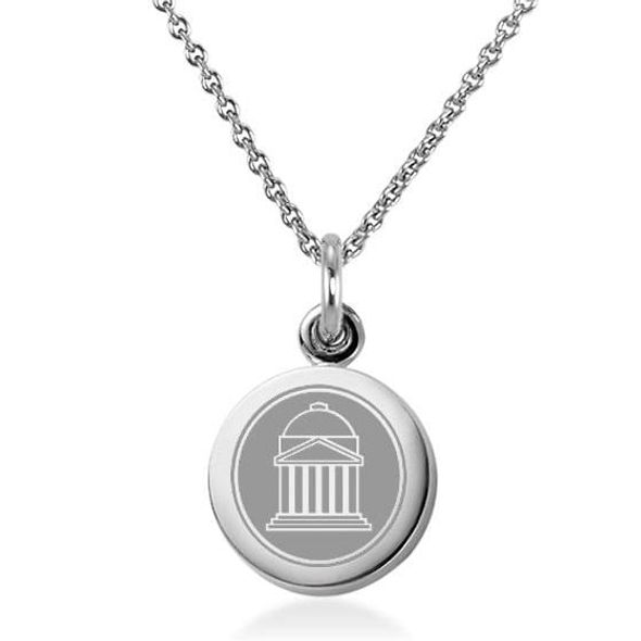 Southern Methodist University Necklace with Charm in Sterling Silver
