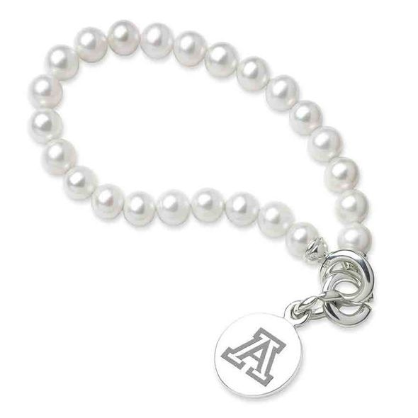 University of Arizona Pearl Bracelet with Sterling Silver Charm