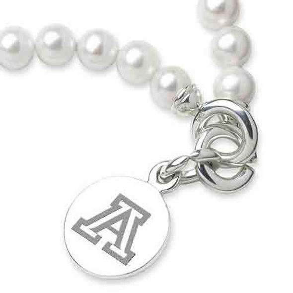University of Arizona Pearl Bracelet with Sterling Silver Charm - Image 2