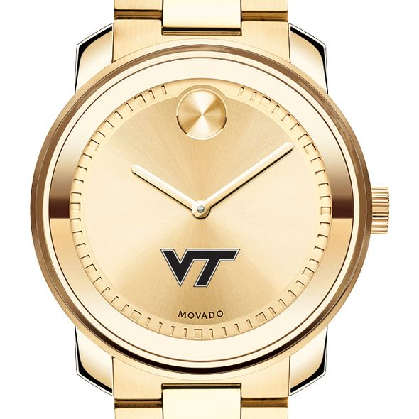 Virginia Tech Men's Movado Gold Bold