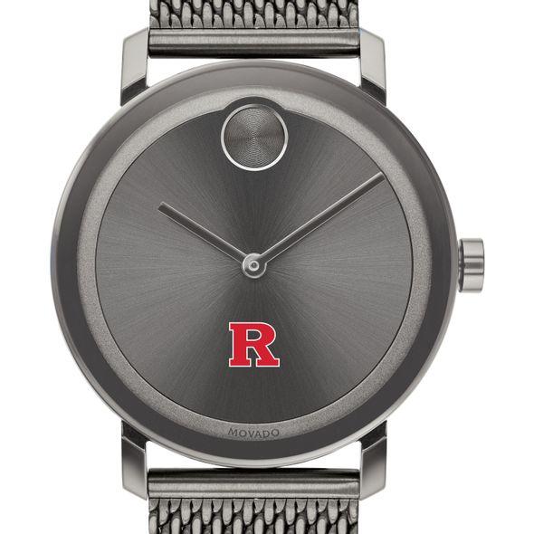 Rutgers University Men's Movado BOLD Gunmetal Grey with Mesh Bracelet