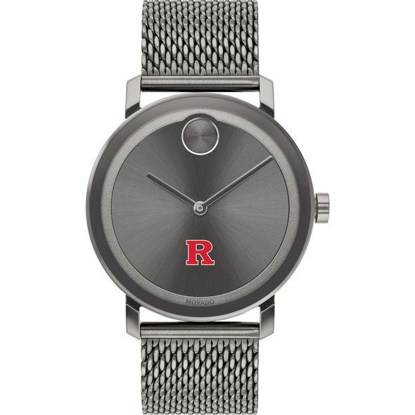 Rutgers University Men's Movado BOLD Gunmetal Grey with Mesh Bracelet - Image 2