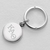 Kappa Alpha Theta Sterling Silver Insignia Key Ring