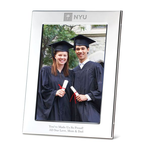 NYU Polished Pewter 5x7 Picture Frame