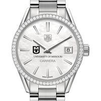 University of Missouri Women's TAG Heuer Steel Carrera with MOP Dial & Diamond Bezel