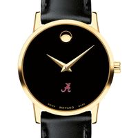University of Alabama Women's Movado Gold Museum Classic Leather