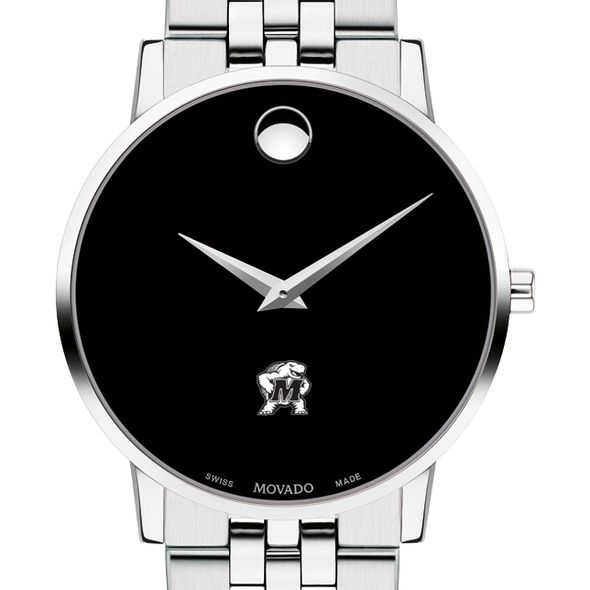 University of Maryland Men's Movado Museum with Bracelet - Image 1