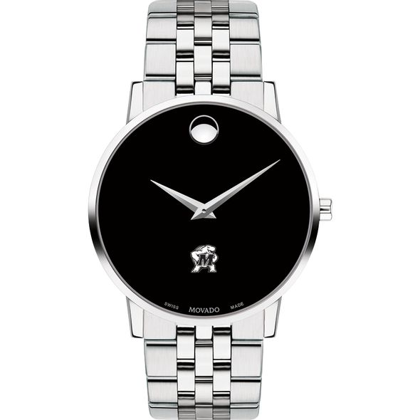 University of Maryland Men's Movado Museum with Bracelet - Image 2