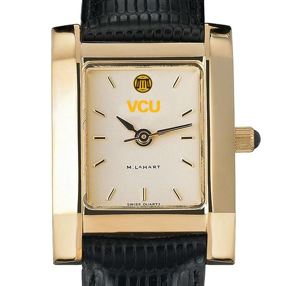 VCU Women's Gold Quad with Leather Strap