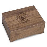 Mississippi State Solid Walnut Desk Box