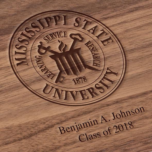 Mississippi State Solid Walnut Desk Box - Image 3