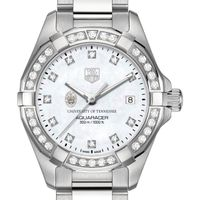 University of Tennessee W's TAG Heuer Steel Aquaracer with MOP Dia Dial & Bezel