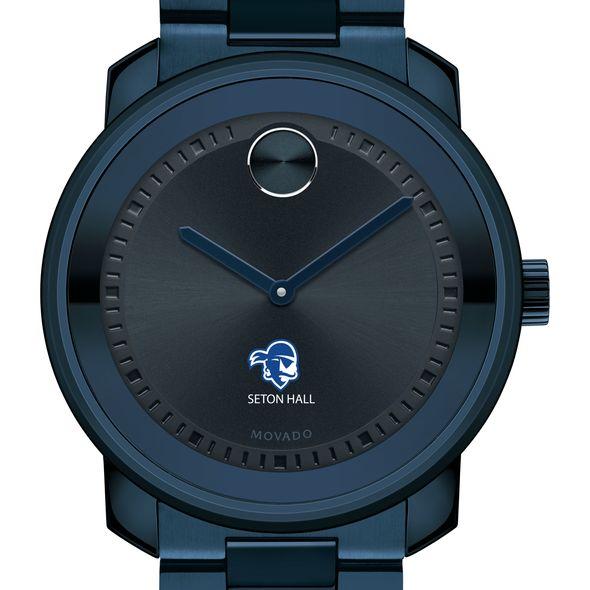 Seton Hall University Men's Movado BOLD Blue Ion with Bracelet - Image 1