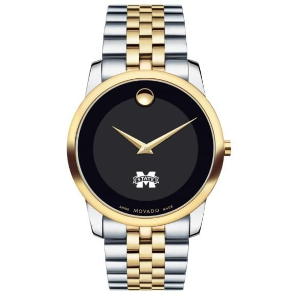 Mississippi State Men's Movado Two-Tone Museum Classic Bracelet - Image 2
