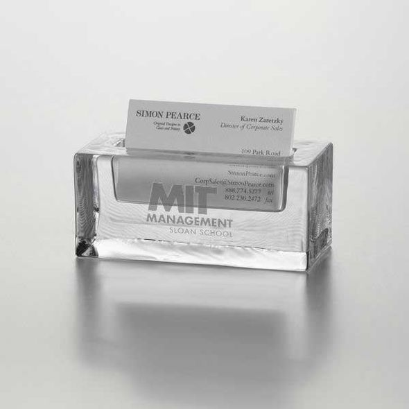 MIT Sloan Glass Business Cardholder by Simon Pearce