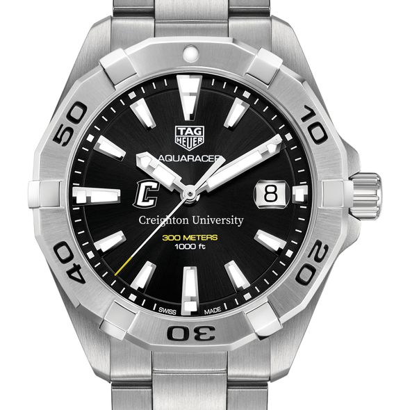 Creighton Men's TAG Heuer Steel Aquaracer with Black Dial - Image 1