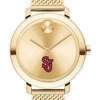 St. John's Women's Movado Bold Gold with Mesh Bracelet