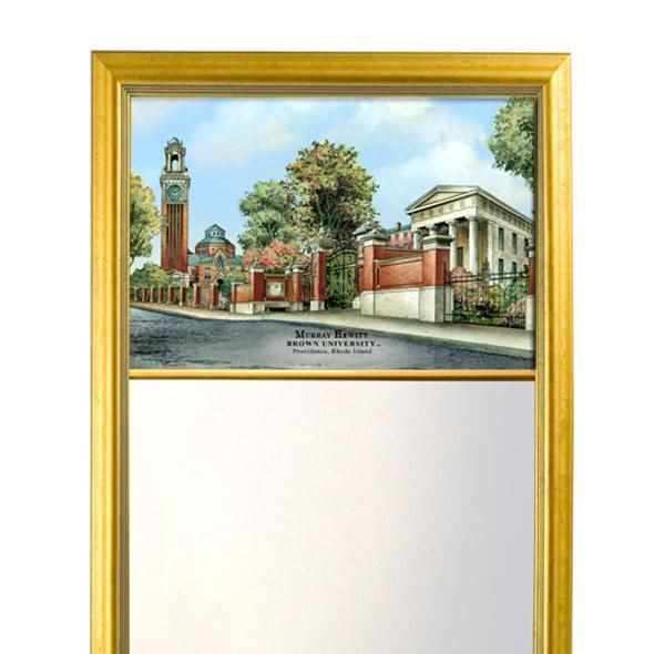 Brown Eglomise Mirror with Gold Frame - Image 2