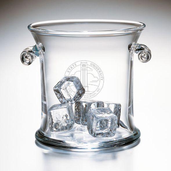 NC State Glass Ice Bucket by Simon Pearce