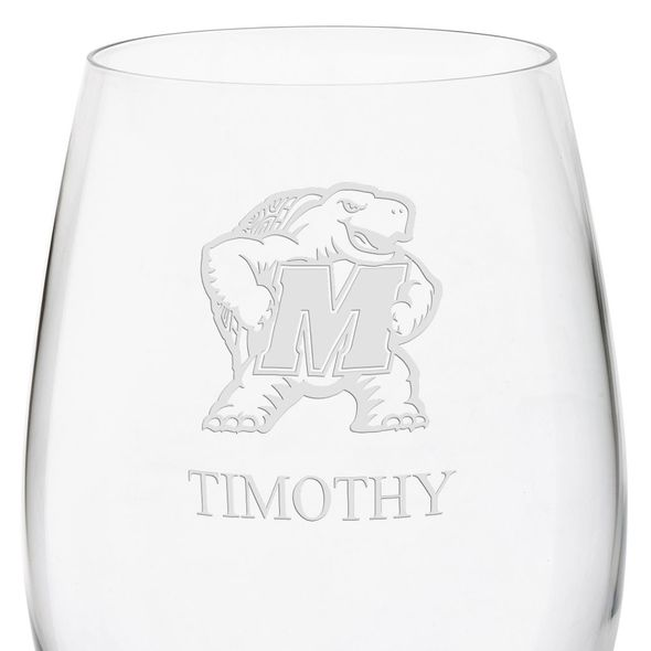 University of Maryland Red Wine Glasses - Set of 2 - Image 3