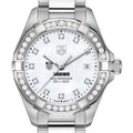 Chicago Booth Women's TAG Heuer Steel Aquaracer with MOP Diamond Dial & Bezel - Image 1