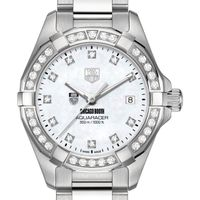 Chicago Booth Women's TAG Heuer Steel Aquaracer with MOP Diamond Dial & Bezel