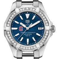 Colgate Women's TAG Heuer 35mm Steel Aquaracer with Blue Dial