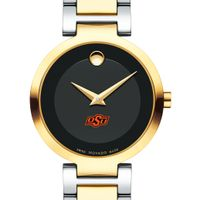 Oklahoma State University Women's Movado Two-Tone Modern Classic Museum with Bracelet