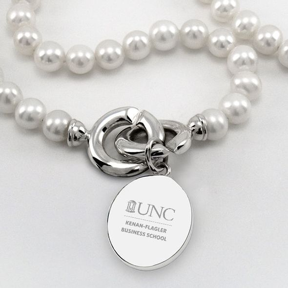 UNC Kenan-Flagler Pearl Necklace with Sterling Silver Charm - Image 2