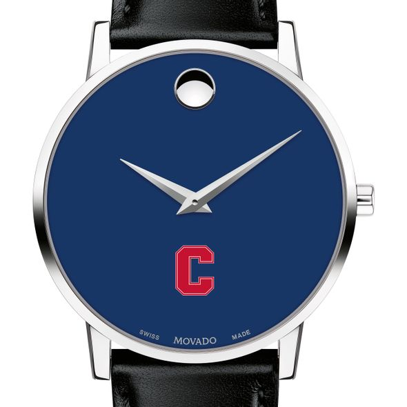Cornell University Men's Movado Museum with Blue Dial & Leather Strap