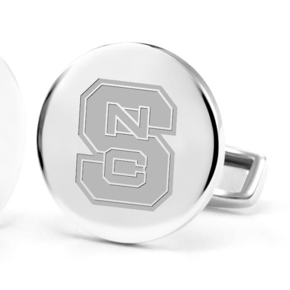 North Carolina State Cufflinks in Sterling Silver - Image 2