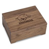 University of Arkansas Solid Walnut Desk Box