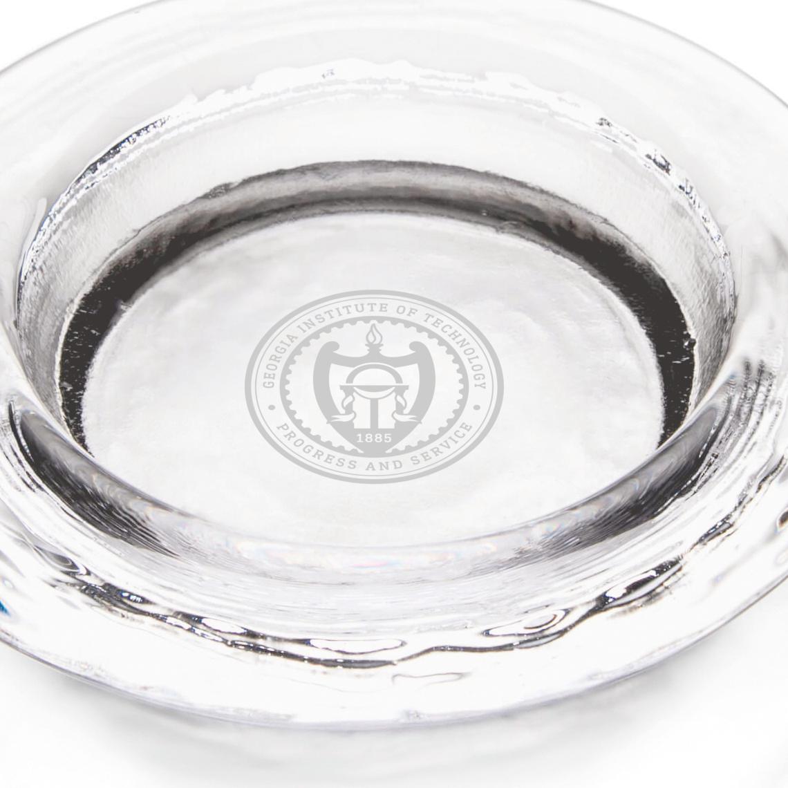 Georgia Tech Glass Wine Coaster by Simon Pearce - Image 2