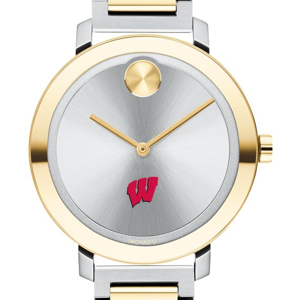 University of Wisconsin Women's Movado Two-Tone Bold 34