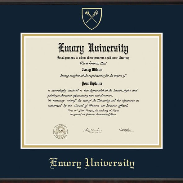 Emory University Diploma Frame, the Fidelitas - Image 2
