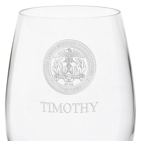 US Merchant Marine Academy Red Wine Glasses - Set of 4 - Image 3