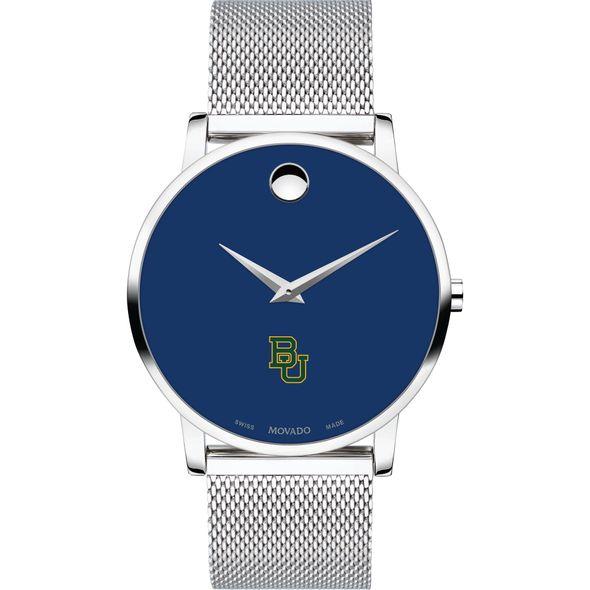 Baylor University Men's Movado Museum with Blue Dial & Mesh Bracelet - Image 2