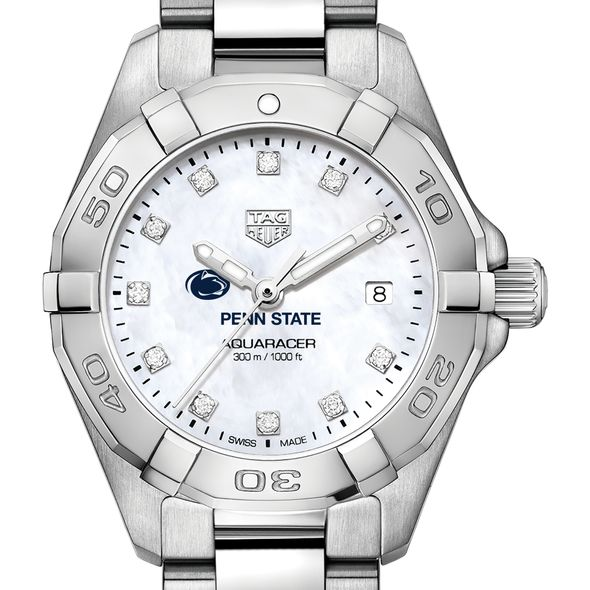Penn State University W's TAG Heuer Steel Aquaracer w MOP Dia Dial