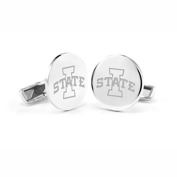 Mississippi State Cuff Links Sterling Silver