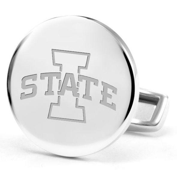 Iowa State University Cufflinks in Sterling Silver - Image 2