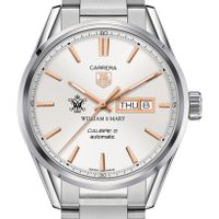 College of William & Mary Men's TAG Heuer Day/Date Carrera with Silver Dial & Bracelet