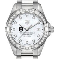 University of Missouri W's TAG Heuer Steel Aquaracer with MOP Dia Dial & Bezel