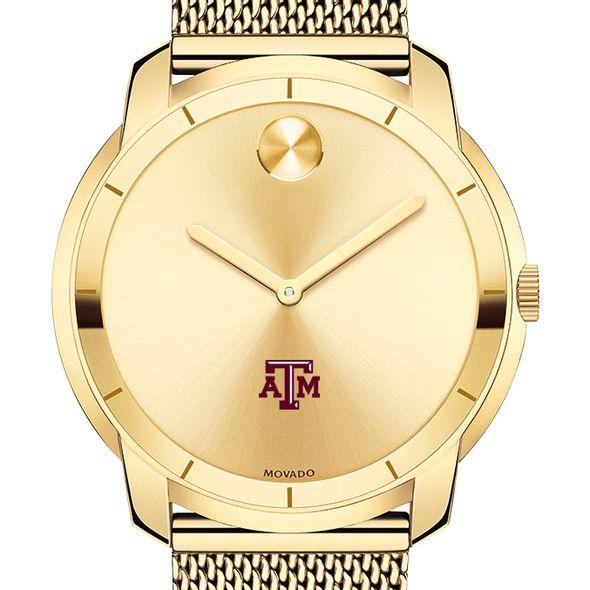 Texas A&M University Men's Movado Gold Bold 44