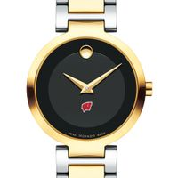 University of Wisconsin Women's Movado Two-Tone Modern Classic Museum with Bracelet