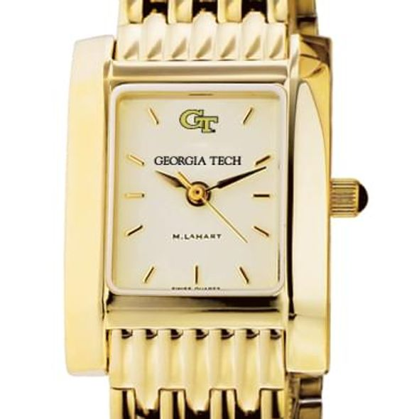 Georgia Tech Women's Gold Quad Watch with Bracelet