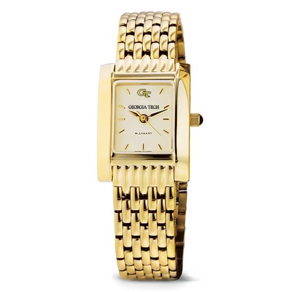 Georgia Tech Women's Gold Quad Watch with Bracelet - Image 2